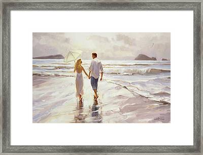 Framed Print featuring the painting Hand In Hand by Steve Henderson