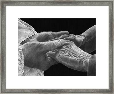 Hands Of Love Framed Print