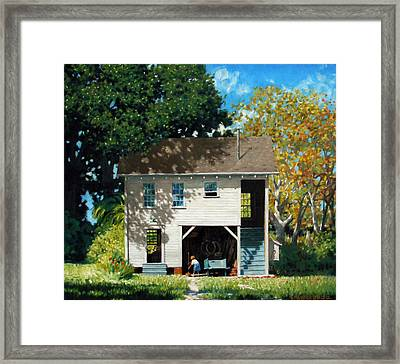 Handy Broom Framed Print