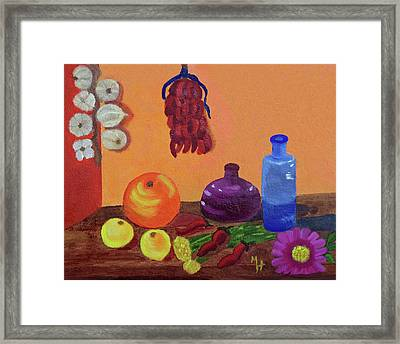 Hanging Around With Spices Framed Print