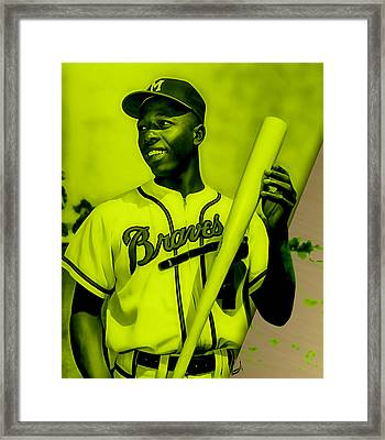 Hank Aaron Collection Framed Print