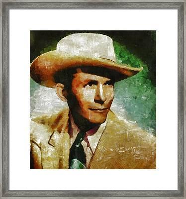 Hank Williams Country Star Framed Print by Mary Bassett