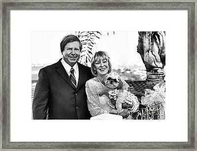 Happy Anniversary Ron And Barb Framed Print by Kathy Tarochione
