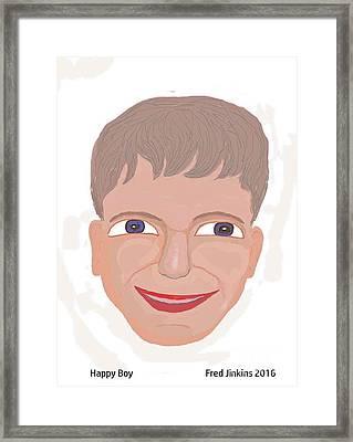 Happy Boy Framed Print by Fred Jinkins