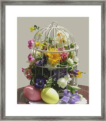 Happy Easter Framed Print by Ana Dawani
