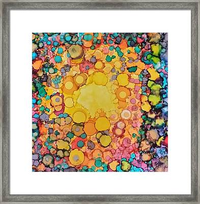 Happy Explosion Framed Print