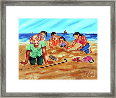 Happy Family Framed Print by Ragunath Venkatraman