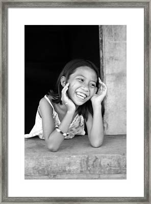 Happy Here Framed Print by Jez C Self
