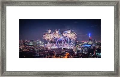 Happy New Year 2018 Framed Print