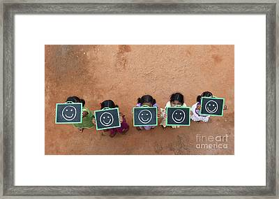 Framed Print featuring the photograph Happy Smiley Faces by Tim Gainey