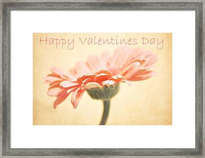 Happy Valentines Day Framed Print by Cathie Tyler