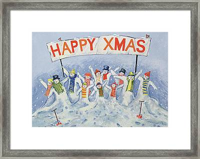 Happy Xmas Framed Print by David Cooke