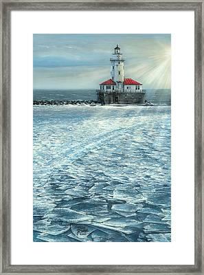 Harbor Light Framed Print by Doug Kreuger