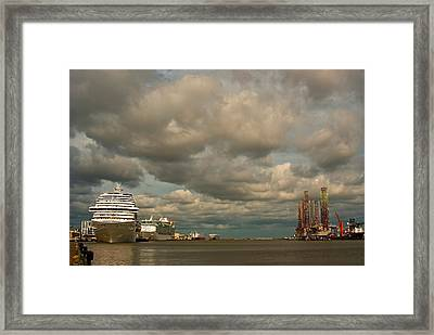 Harbor Storm Framed Print