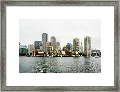 Framed Print featuring the photograph Harbor View by Greg Fortier