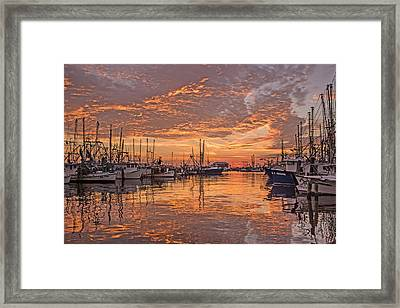 Harboring Reflections Framed Print