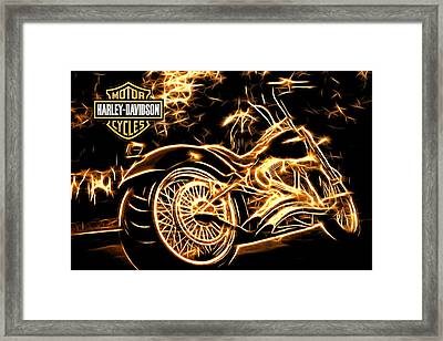 Framed Print featuring the photograph Harley-davidson by Aaron Berg