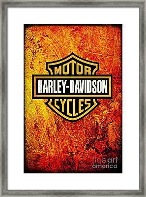 Harley-davidson Framed Print