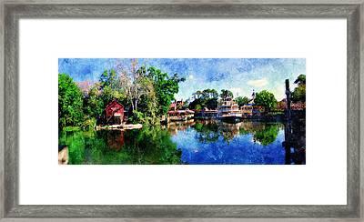 Framed Print featuring the digital art Harper's Mill by Sandy MacGowan