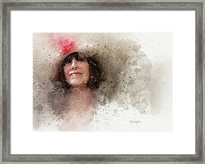 Hat With Rose Framed Print