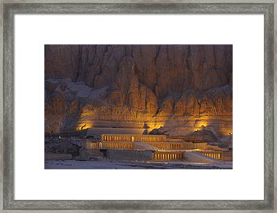 Hatshepsuts Mortuary Temple Rises Framed Print by Kenneth Garrett