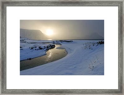 Haukland Beach, Lofoten Framed Print