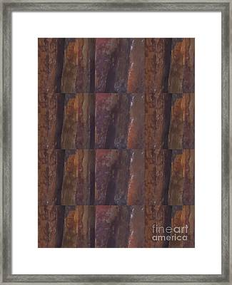 Hawaii Lava Stone Tiles  Craft Carving Decorative Water Fountains By American Artists Photography By Framed Print by Navin Joshi