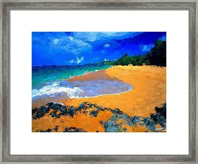 Hawaiian Island Framed Print by Anthony Fishburne