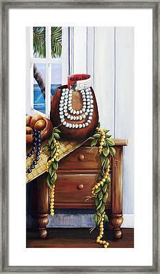 Hawaiian Still Life Panel Framed Print