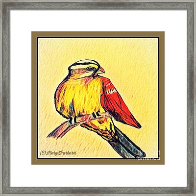 Hawk Framed Print by MaryLee Parker