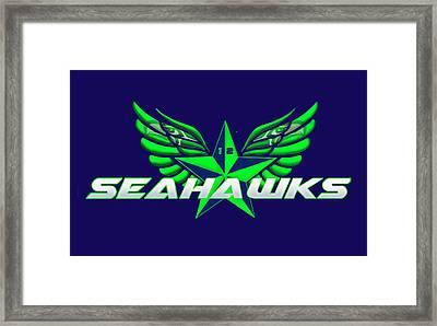 Hawks Wings Framed Print
