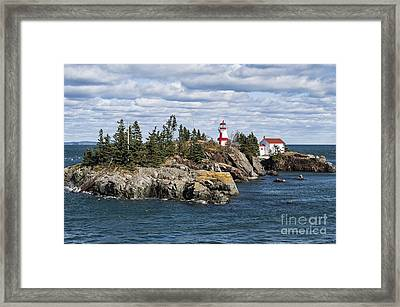 Head Harbour Lighthouse Framed Print by John Greim
