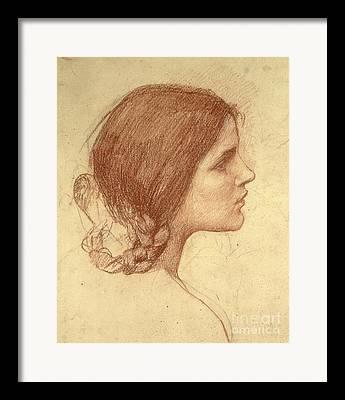 Pre-raphaelite Drawings Framed Prints