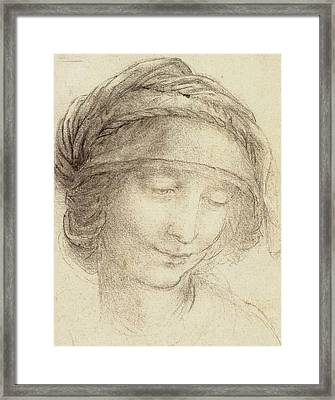 Head Of Saint Anne Framed Print