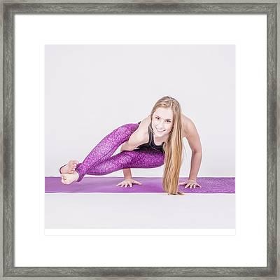 #health #fitness #fit #fitnessmodel Framed Print