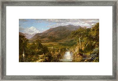 Heart Of The Andes Framed Print by Frederic Edwin Church