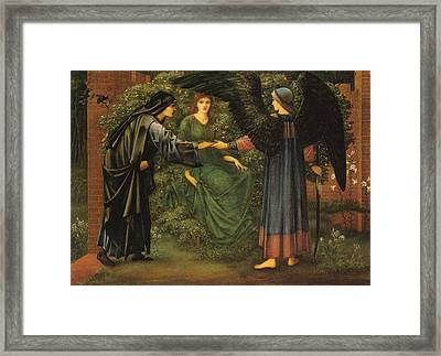 Heart Of The Rose Framed Print by Edward Burne