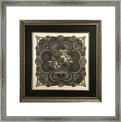 Framed Print featuring the drawing Heart To Heart by James Lanigan Thompson MFA