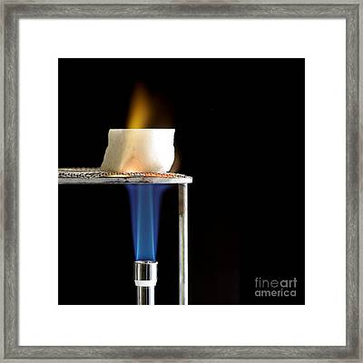 Heating Marble Framed Print by Spl