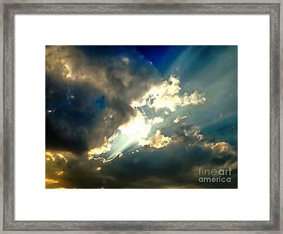 Heavenly Sky Framed Print by Krissy Katsimbras