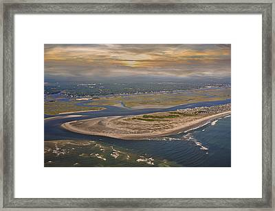 Heaven's View Topsail Island Framed Print by Betsy Knapp
