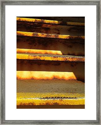 Framed Print featuring the photograph Heavy Metal by Olivier Calas
