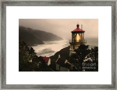 Heceta Head Lighthouse Oregon Framed Print