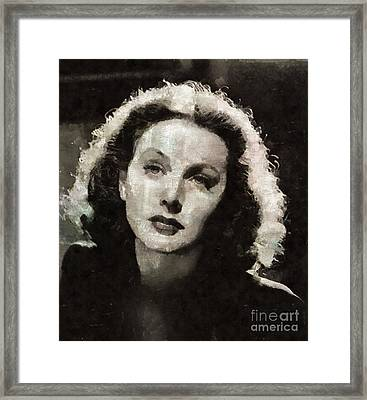 Hedy Lamarr, Actress Framed Print by Mary Bassett