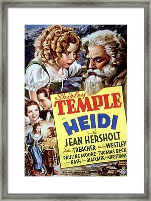Heidi, Shirley Temple, Jean Hersholt Framed Print by Everett