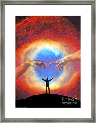 Helix Nebula Framed Print by Larry Landolfi