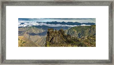 Hells Canyon Panoramic Framed Print by Leland D Howard