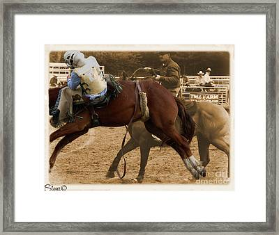 Helluva Rodeo-the Ride 6 Framed Print