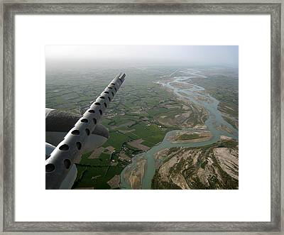 Helmand River Valley From The Air Framed Print