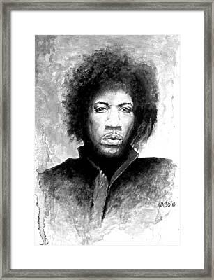 Hendrix Portrait Framed Print